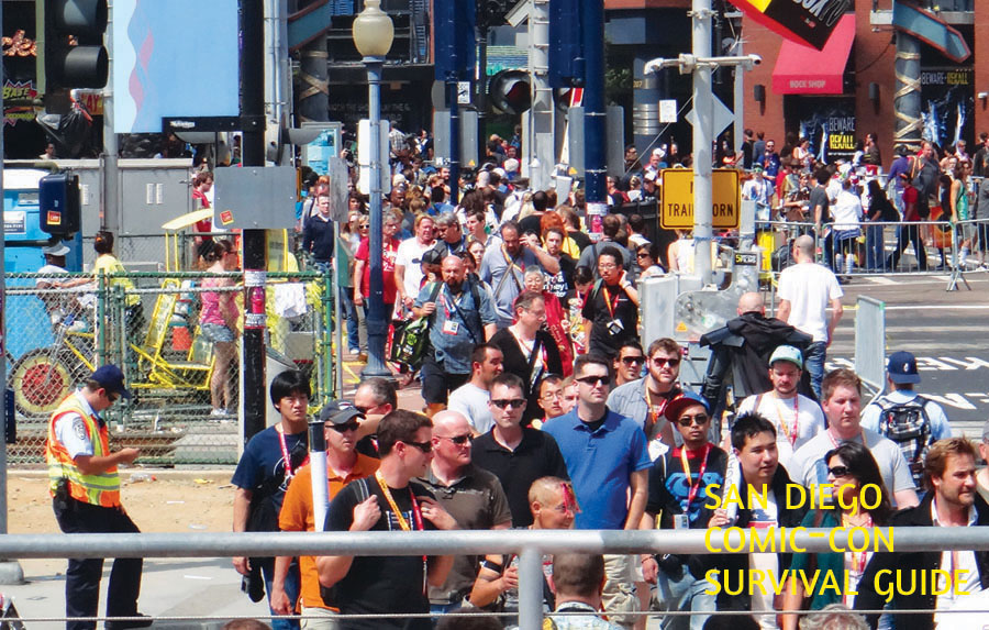SDCC Survival Guide street crowd press