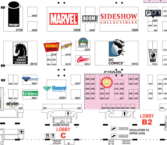 SDCC booth 2107 Ninth Circle